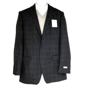 Calvin Klein 42 XL Slim 100% Wool Sport Jacket